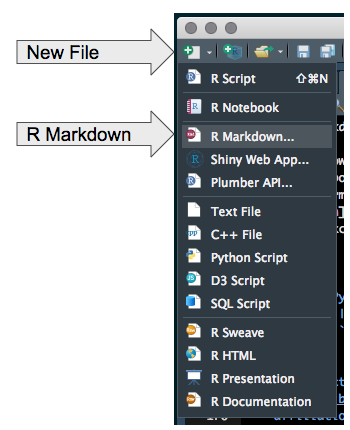 Open A New RMarkdown Document