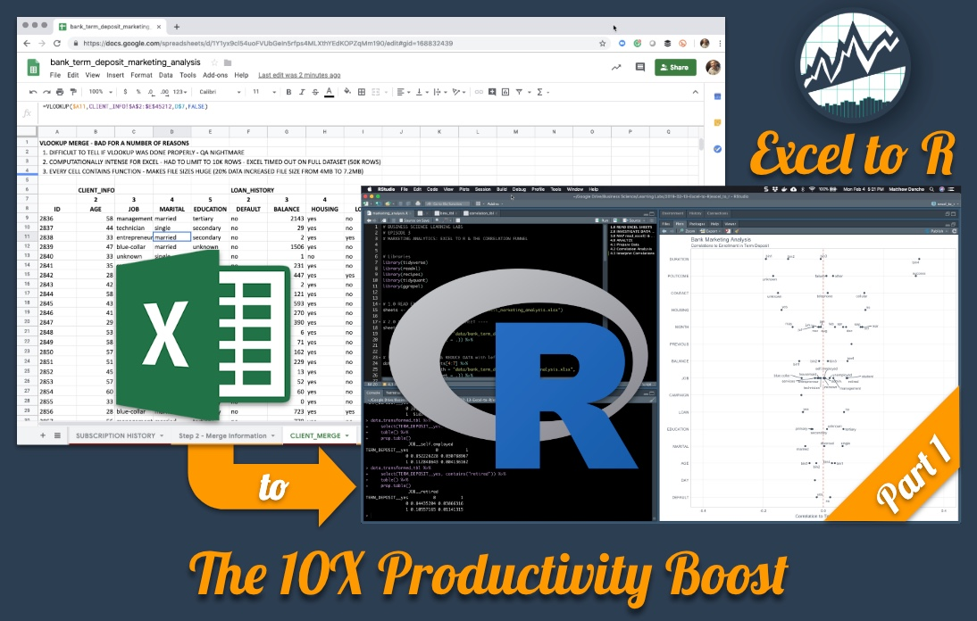 Excel to R, Part 1 - The 10X Productivity Boost
