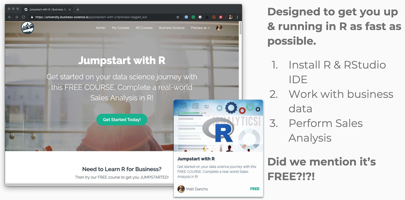 Free data science course: Jumpstart with R