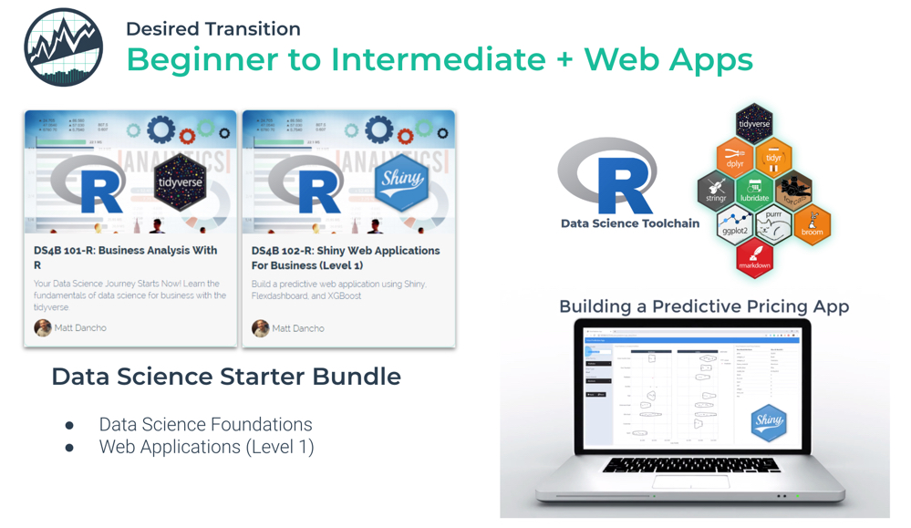 Predictive Web Applications for Business with R Shiny - Course is