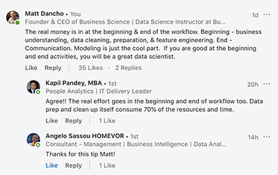 Data Science Workflow Conversation
