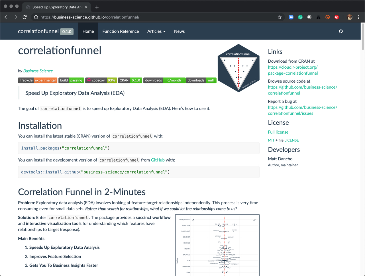 Introducing correlationfunnel v0.1.0 – Speed Up Exploratory Data Analysis by 100X