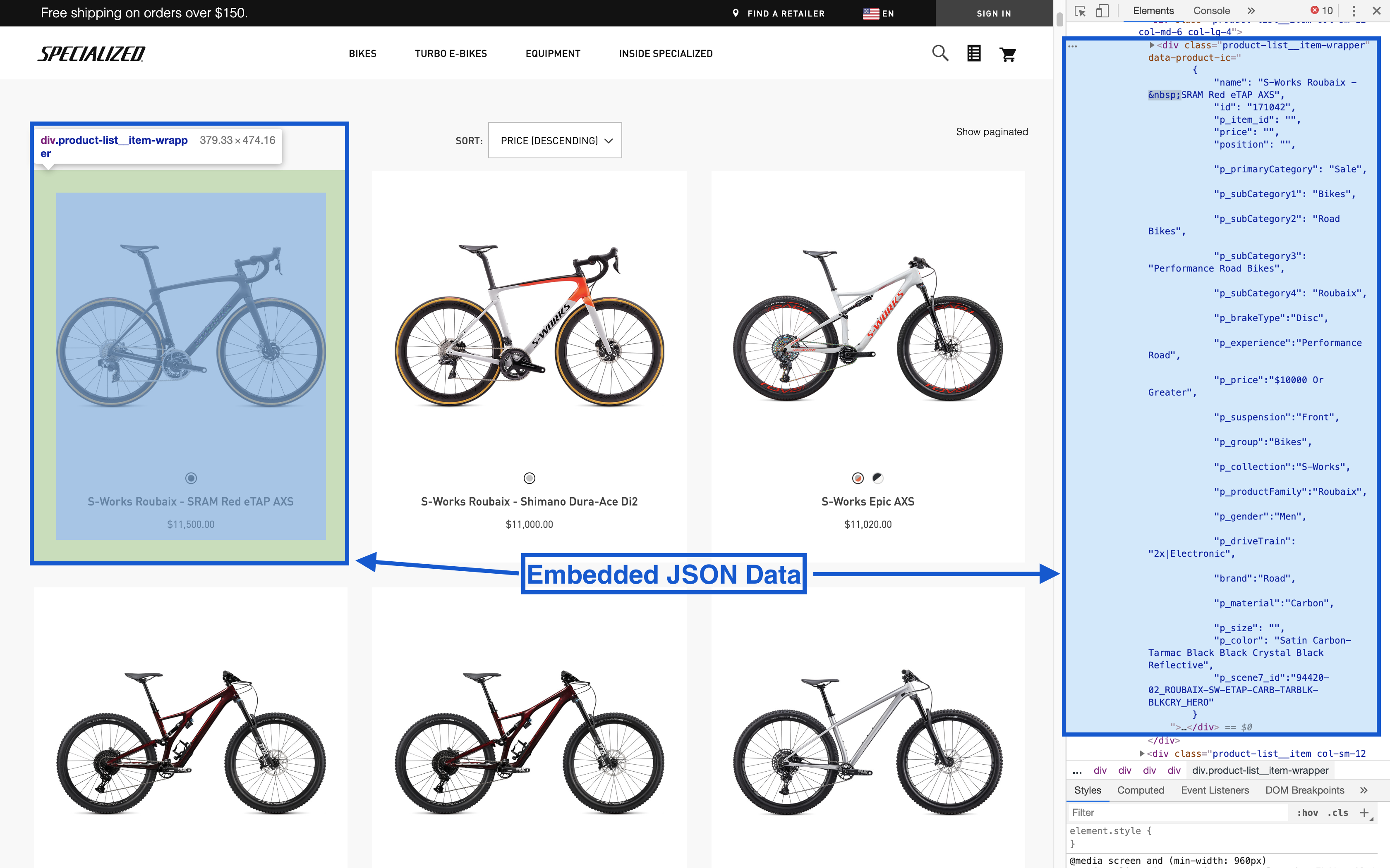 Bike Data as JSON