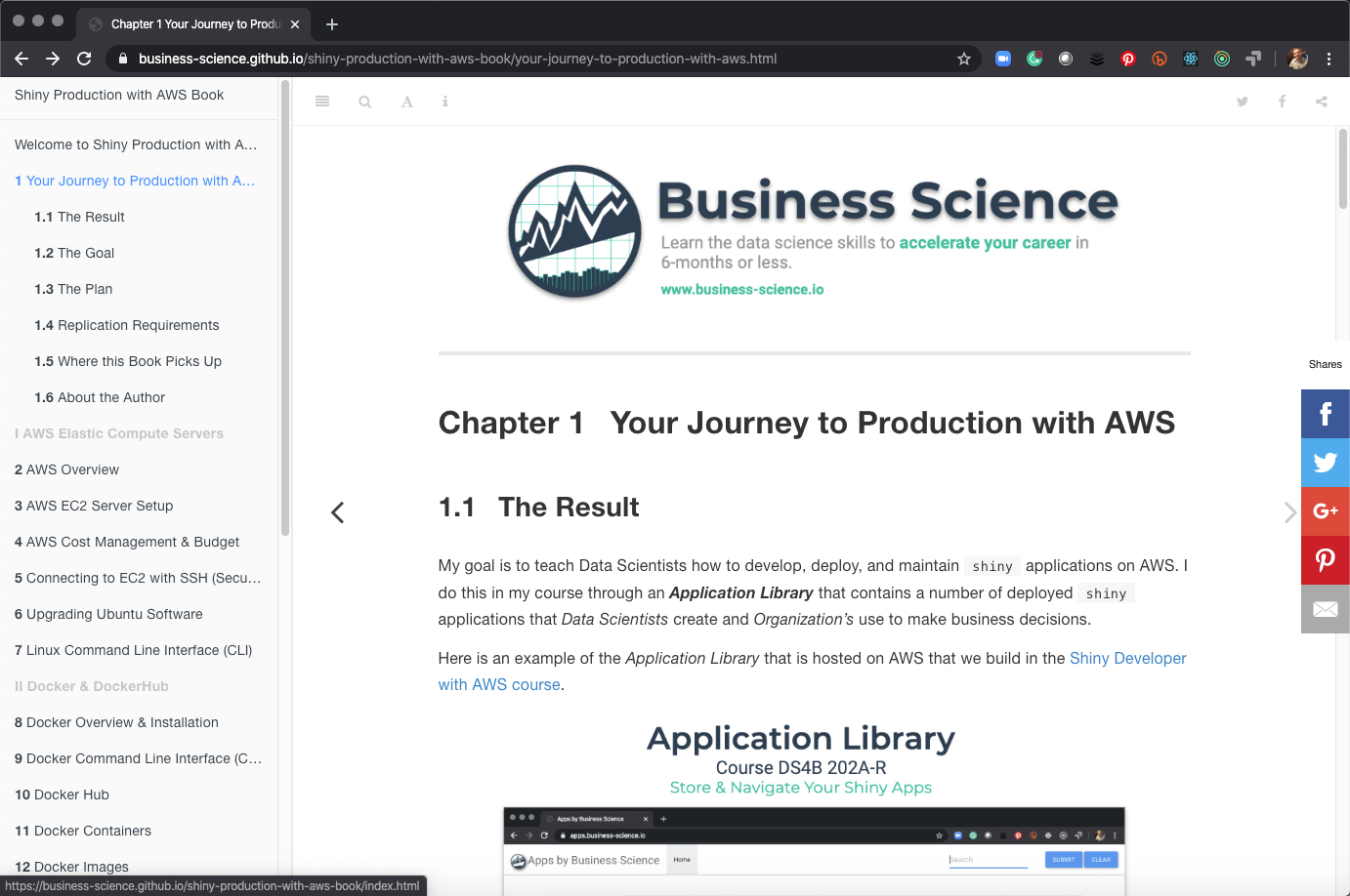 Introducing the Shiny Production with AWS Book