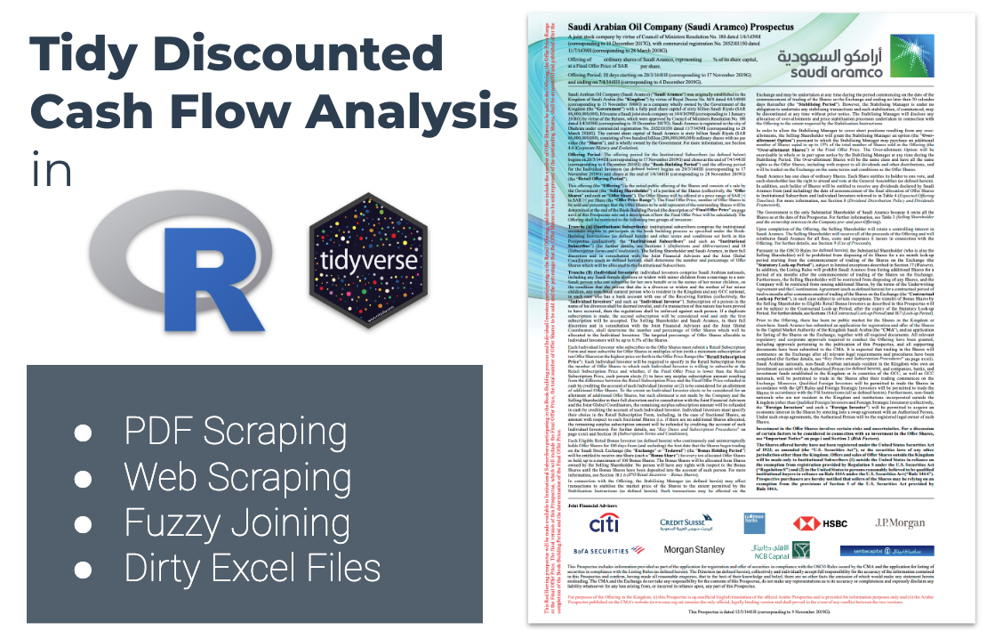 Tidy Discounted Cash Flow Analysis in R (for Company Valuation)