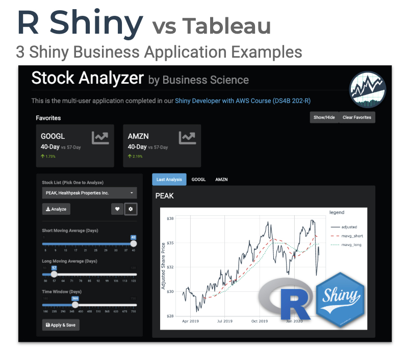 R Shiny vs Tableau (3 Business Application Examples)