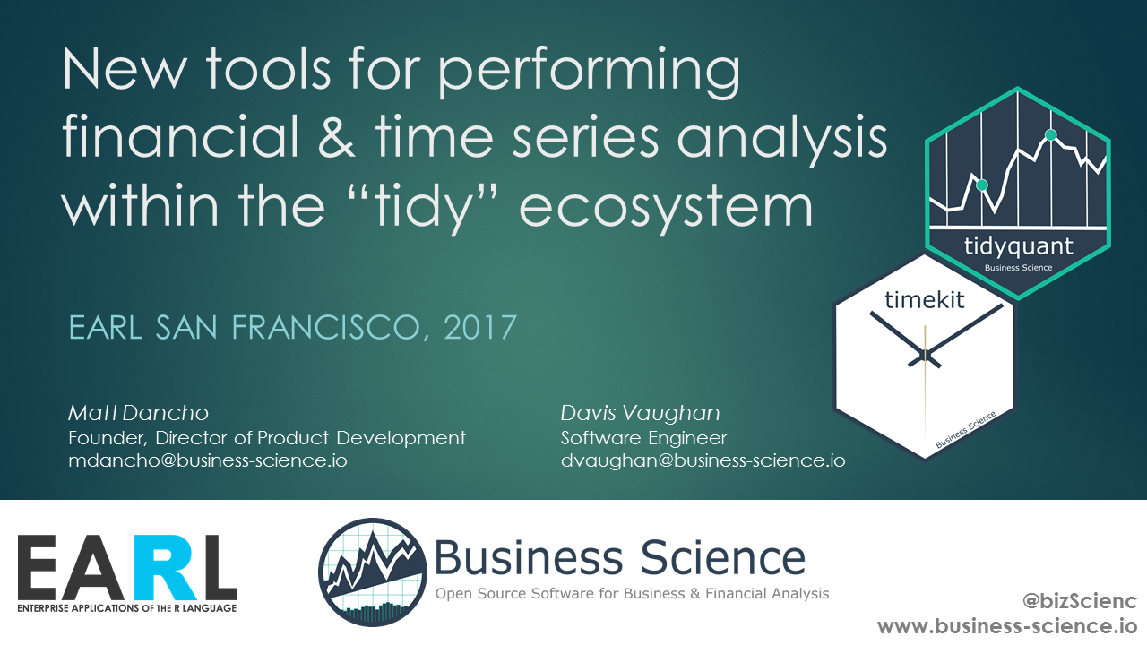 Business Science EARL SF 2017 Presentation: tidyquant