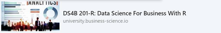 Data Science For Business With R